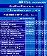 Website-Check: Webpage-Check | Webshop-Check | eBayShop-Check | AGB-Check